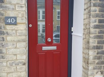 Composite Door Dark Red & Anthracite Grey
