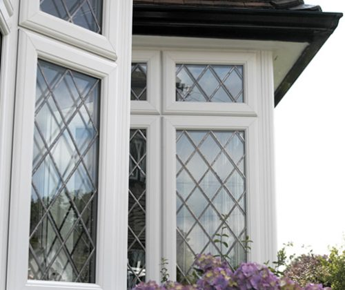 UPVc diamond leaded windows