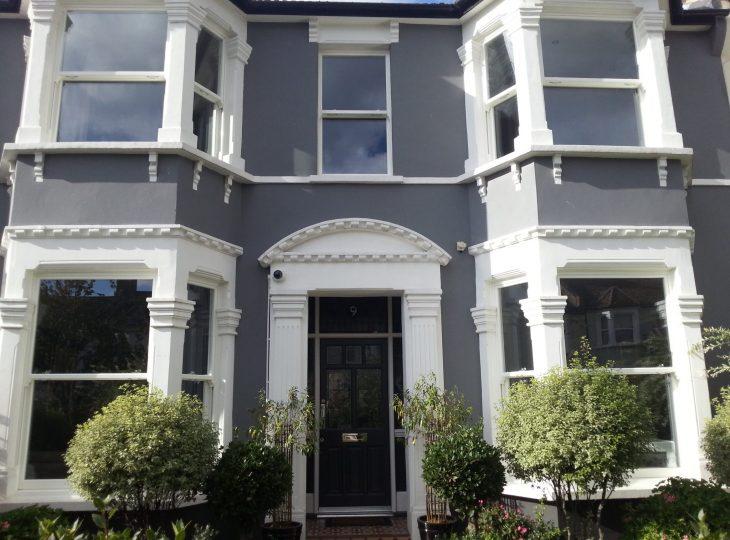 London sash window property
